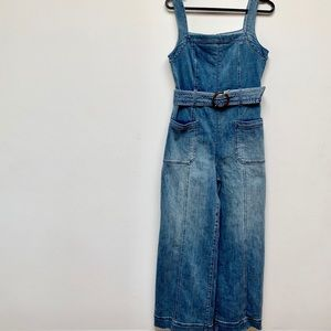 NWT Pilcro by Anthropologie denim jumpsuit petite